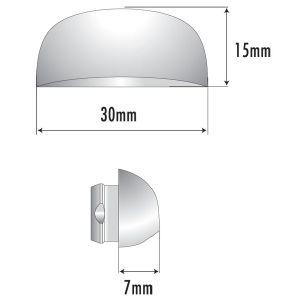 Busette de drainage trou 10 mm for Cache pour fenetre pvc