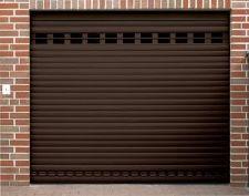 Porte garage volet roulant brun for Volet de garage enroulable
