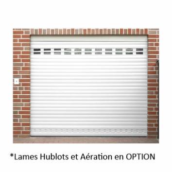 Porte de garage enroulable motoris e radio blanche - Porte enroulable garage ...