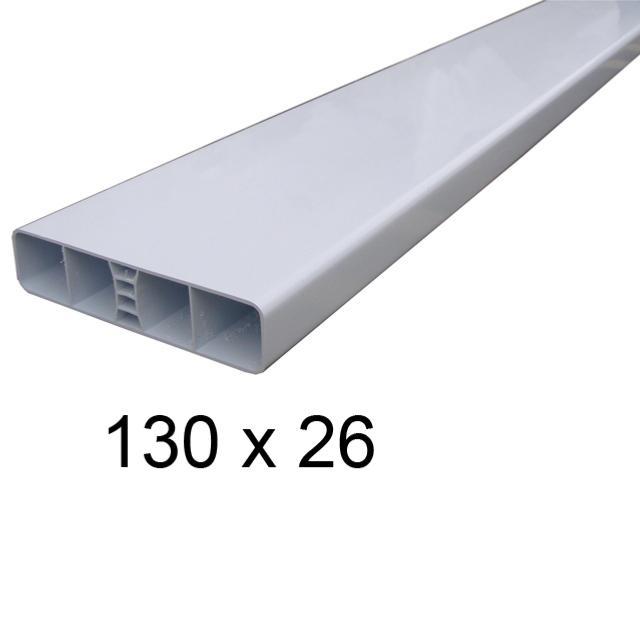 lisse pvc blanc 130x26 pour cloture ou portail atouferm. Black Bedroom Furniture Sets. Home Design Ideas