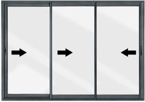 Devis fen tres portes et baies vitr es pvc ou alu for Porte fenetre coulissante alu 3 vantaux