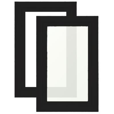 Hublot de porte de garage fen tre hublot rectangle porte - Porte de garage noir ...
