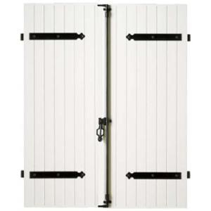 volet battant pvc blanc 2 vantaux contres pentures. Black Bedroom Furniture Sets. Home Design Ideas