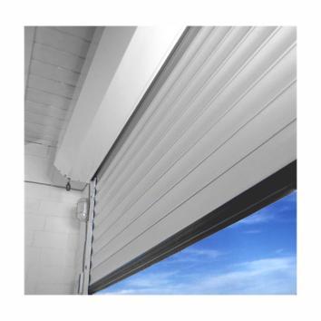 Porte de garage enroulable motoris e blanche - Porte enroulable garage ...