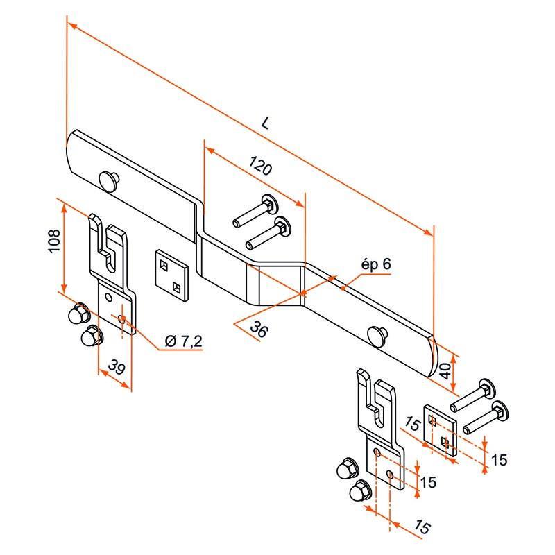 barre de s curit pour volet battant. Black Bedroom Furniture Sets. Home Design Ideas