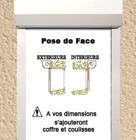 Pose de Face (en applique sur le mur)